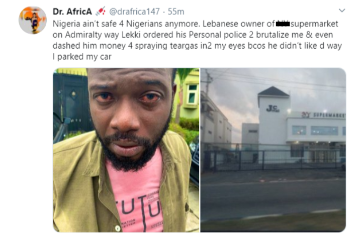 Nigerian Doctor accuses Lebanese Businessman of brutality 4