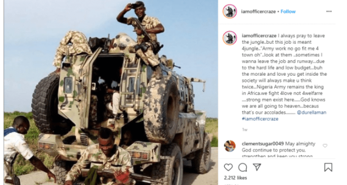 Sometimes I want to leave my Job and runaway due to the low budget - Nigerian Soldier 2