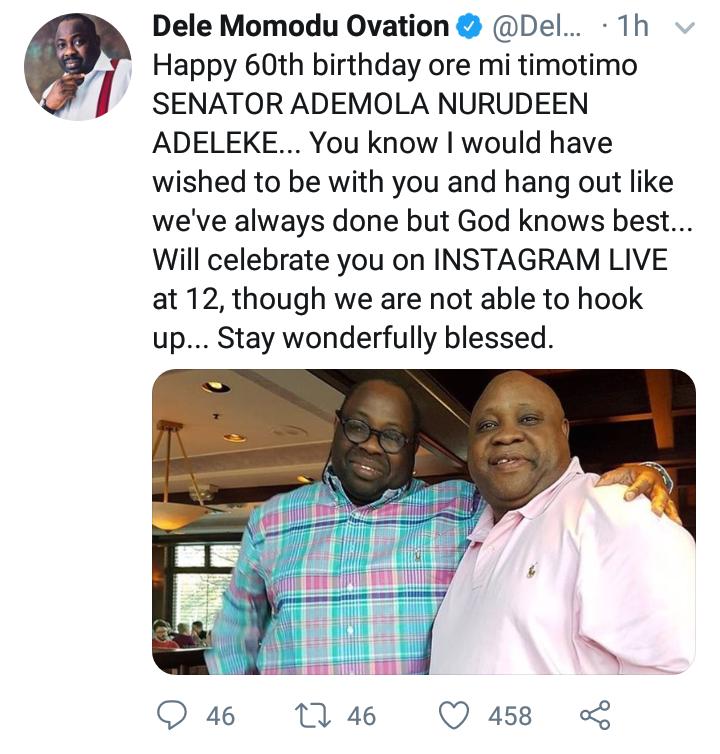 Dele Momodu celebrates Senator Ademola Adeleke on his 60th Birthday 4