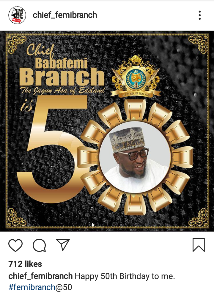 Nollywood Actor, Femi Branch celebrates 50th Birthday 2