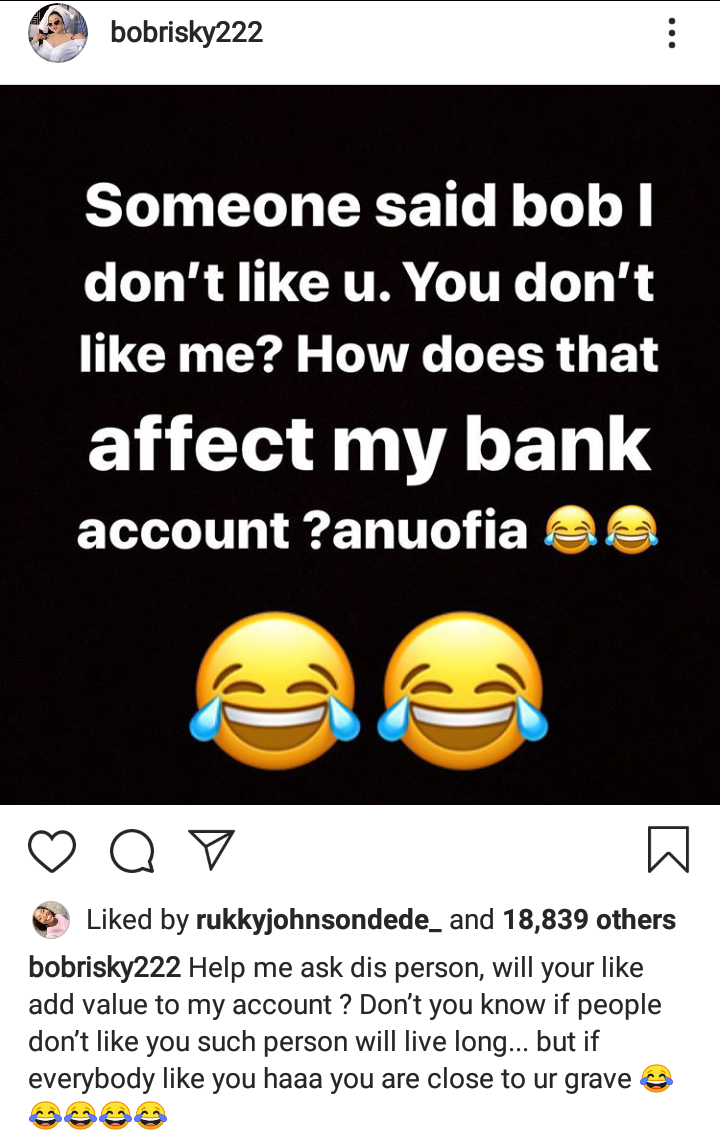 If People don't like you, you will live long - Bobrisky 4