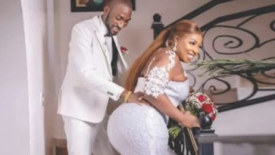 "Photo of Actress Anita Joseph's husband celebrates three years of him ""loving her, F***KING and filling her tank"""