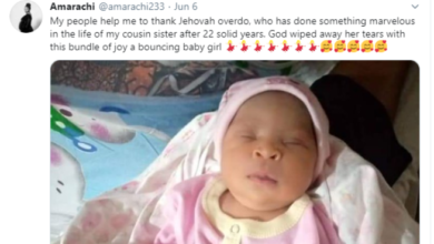 Photo of Nigerian Lady gives birth to baby girl after 22 years of marriage