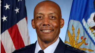 Photo of Gen. Brown becomes first black Military service Chief in America