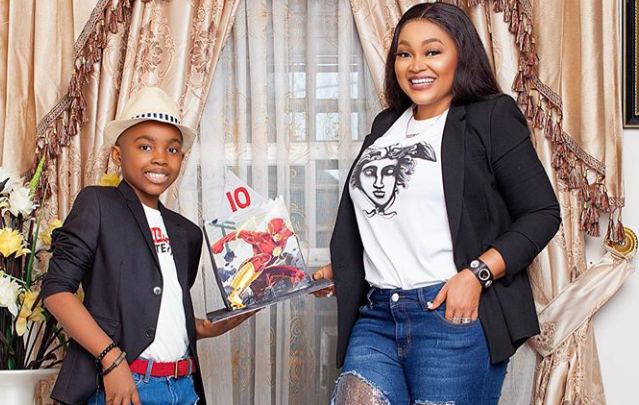 Mercy Aigbe celebrates Son as he turns 10 (Photo) 3