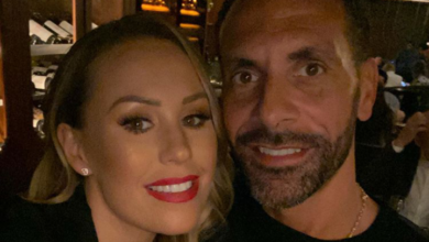 Photo of Rio Ferdinand and his Wife, Kate expecting first Child together.