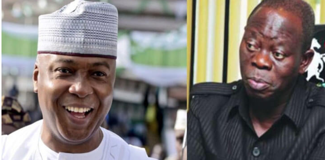 Oshiomhole: I've always known his masquerade will dance naked in the market - Saraki 1