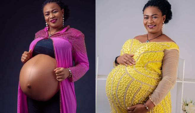 Nigerian lady welcomes triplets after 14 years of Marriage 1
