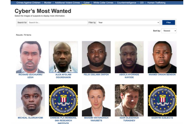 US Government declares Six Nigerians wanted for Cyber Crime 3
