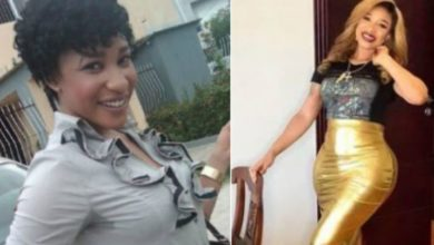 "Photo of ""Where are the Aprokos that said surgery is not good?"" Tonto Dikeh asks as she shares photos of her body before and after surgery"