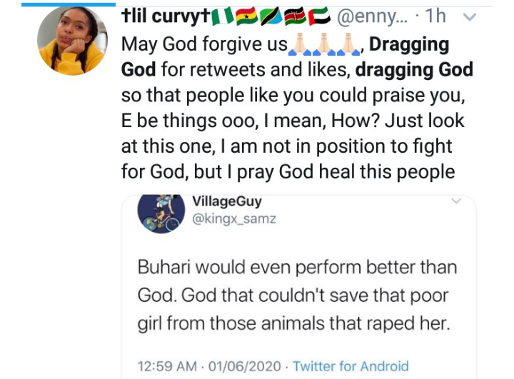 "Nigerians blame God for ill happenings in Nigeria as ""dragging God"" trends on twitter 17"