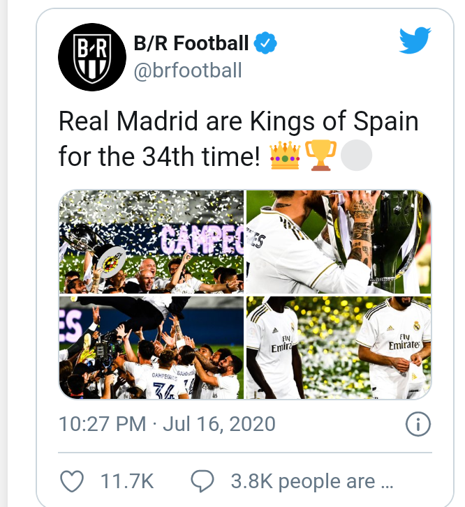 Real Madrid become La Liga Champions for the 34th time 4
