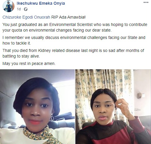 Oyo State Corps member dies after allegedly being poisoned by man she turned down 10