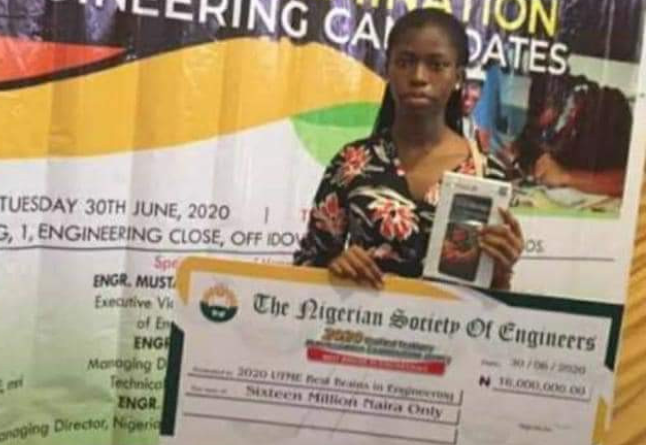 Nigerian Society of Engineers awards Student with highest JAMB score N16M 1