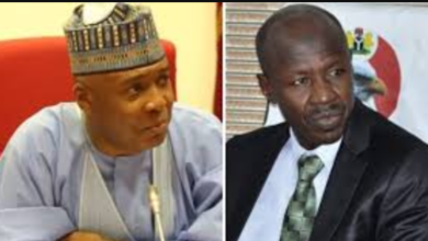 Photo of Magu was after me because I did not confirm his appointment as EFCC Chairman – Saraki