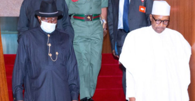 Jonathan visits Buhari, says their relationship is okay 1