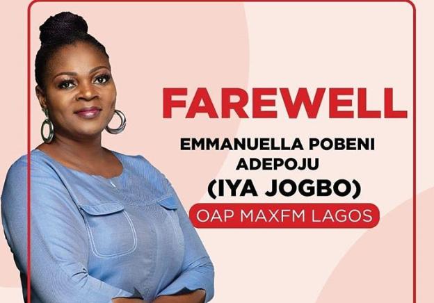 MAX FM loses OAP, Iya Jogbo 1