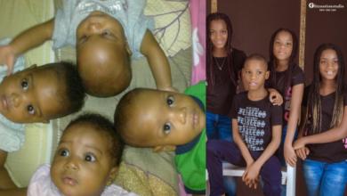 Photo of Mum celebrates quadruplet as they turn 10