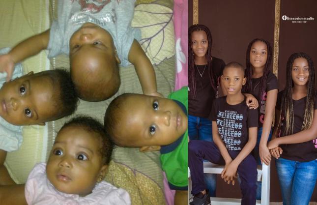 Mum celebrates quadruplet as they turn 10 3