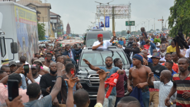 Photo of Orji Uzor Kalu receives rousing welcome in Abia State as he returns Home months after release from Prison