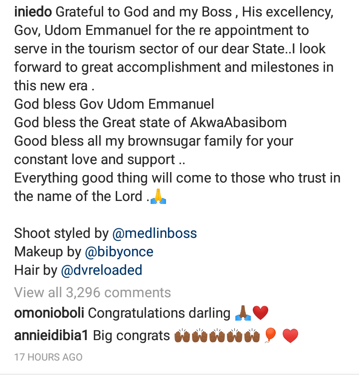 Ini Edo re-appointed S.A to Gov. Udom Emmanuel 4