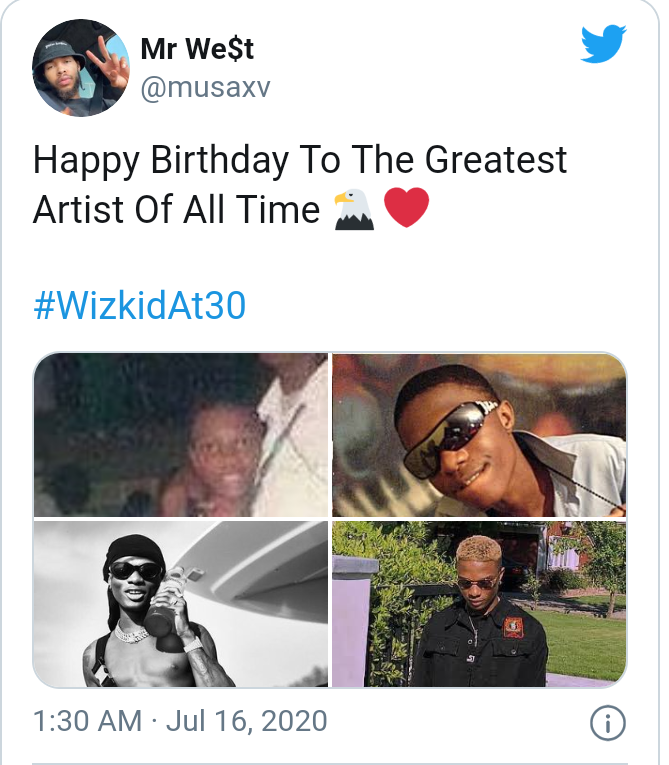 Wizkid turns 30 today as fans celebrate him 13