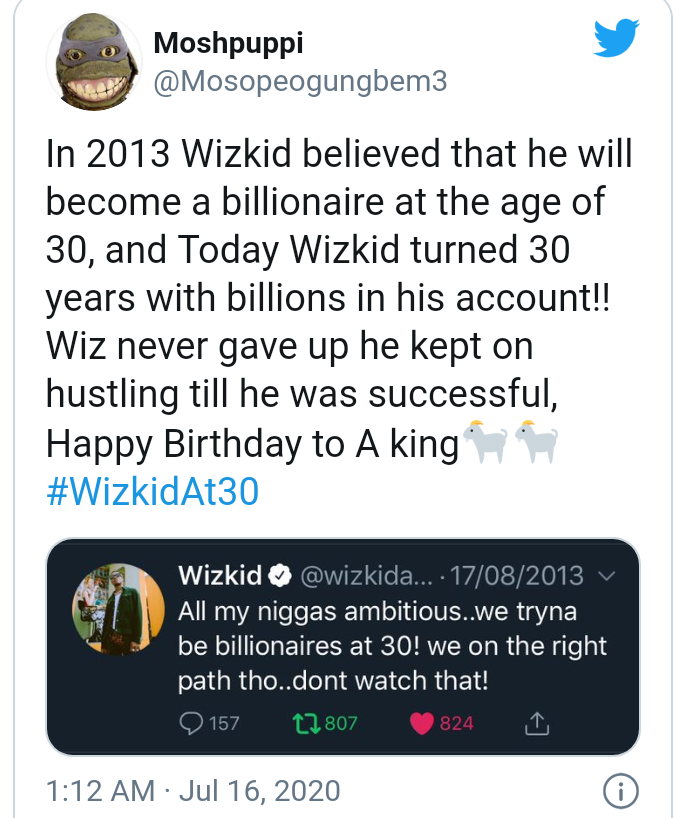 Wizkid turns 30 today as fans celebrate him 14