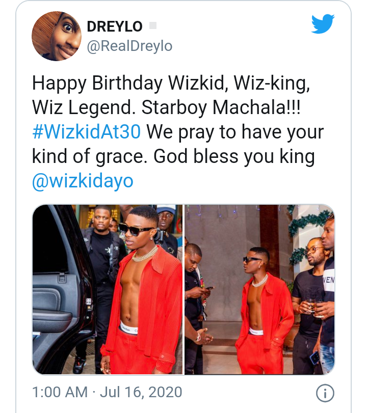 Wizkid turns 30 today as fans celebrate him 15