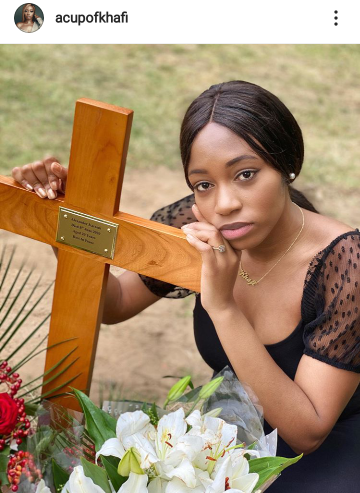 BBNaija Khafi pays tribute to her brother as he is laid to rest 6