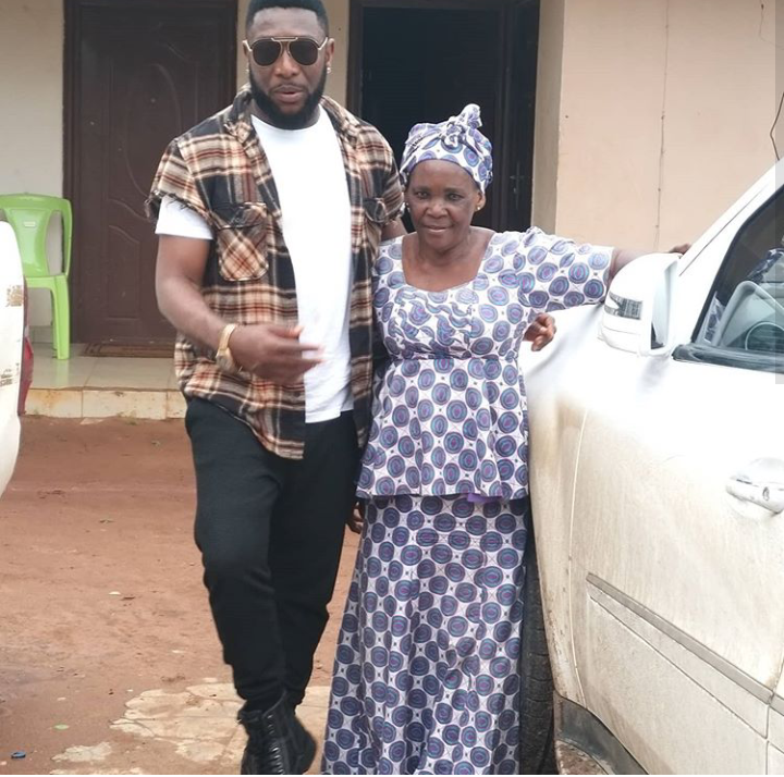 Actor, Tchidi Chikere adopts his Old Nanny as new Mom 6
