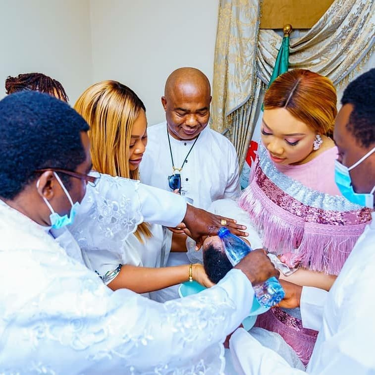Hope Uzodinma baptizes his twin Daughters (photos) 12