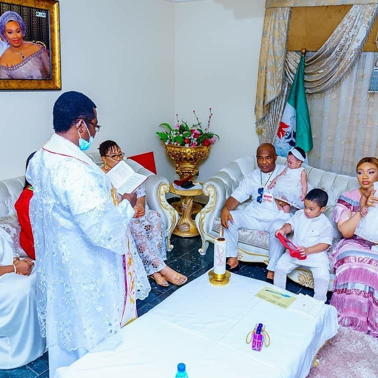 Hope Uzodinma baptizes his twin Daughters (photos) 13