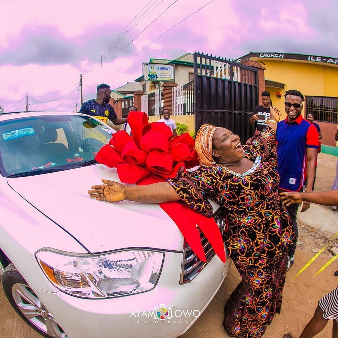 DJ Kaywise buys his Mom a Car on her birthday 8