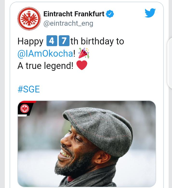 Football World celebrates Jay Jay Okocha at 47 8