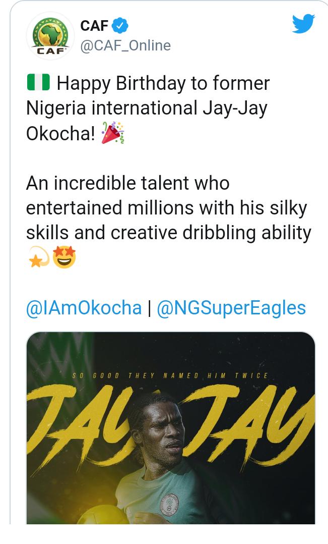 Football World celebrates Jay Jay Okocha at 47 9