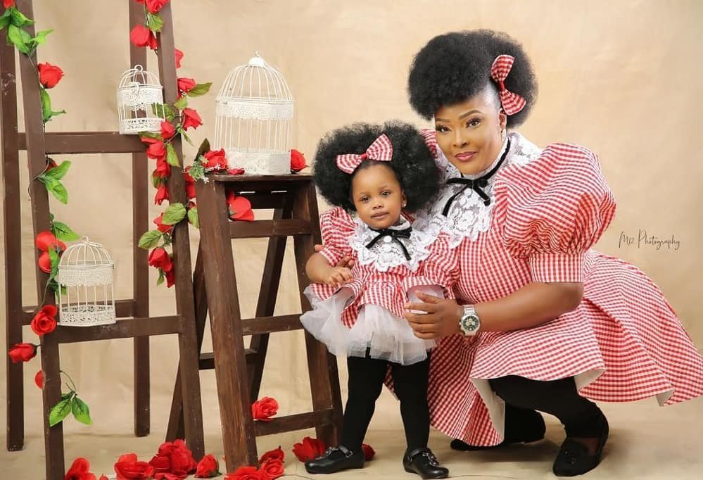Actress, Ronke Odusanya share lovely photos as her daughter turns one (Photos) 9