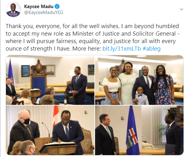 Nigerian Man, Kaycee Madu becomes Minister of Justice in Canada 4