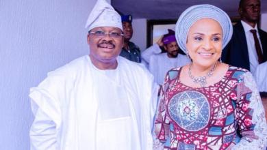 Photo of Ajimobi made Heaven, he is at peace with God – Ajimobi's Wife