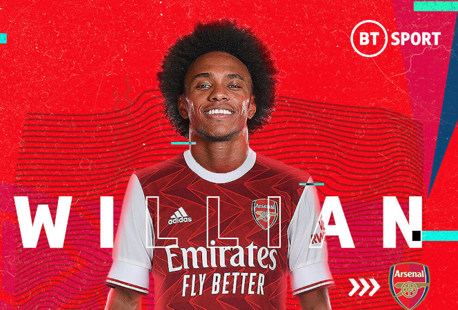 Arsenal Confirms signing of Brazilian Winger, Willian 1