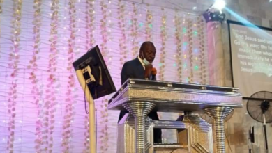 Photo of Ize-Iyamu seen ministering at RCCG on Sunday (Photos)
