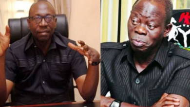 Photo of Oshiomhole is not my god Father, he works for me – Ize-Iyamu
