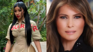 """Photo of Cardi B shares naked photo of US First Lady after political correspondent DeAnna Lorraine said """"America needs more women like Melania Trump and less like Cardi B"""