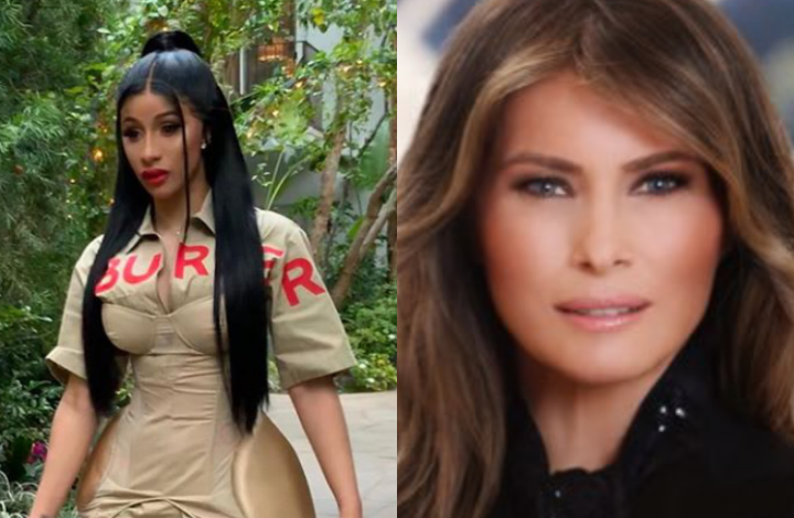 "Cardi B shares naked photo of US First Lady after political correspondent DeAnna Lorraine said ""America needs more women like Melania Trump and less like Cardi B 7"