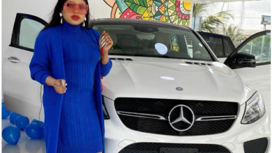 Photo of Bobrisky gifts himself a Benz to celebrate birthday