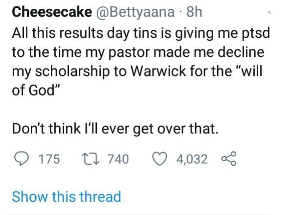 Woman shares how she gave up her scholarship to a foreign University after her pastor told her it's not God's will 1