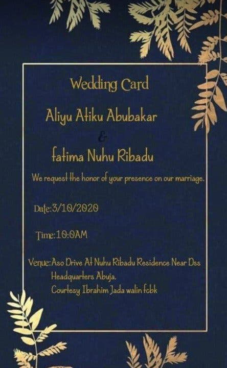 Atiku Abubakar's Son, Aliyu set to wed Nuhu Ribadu's daughter, Fatima (Photos) 7