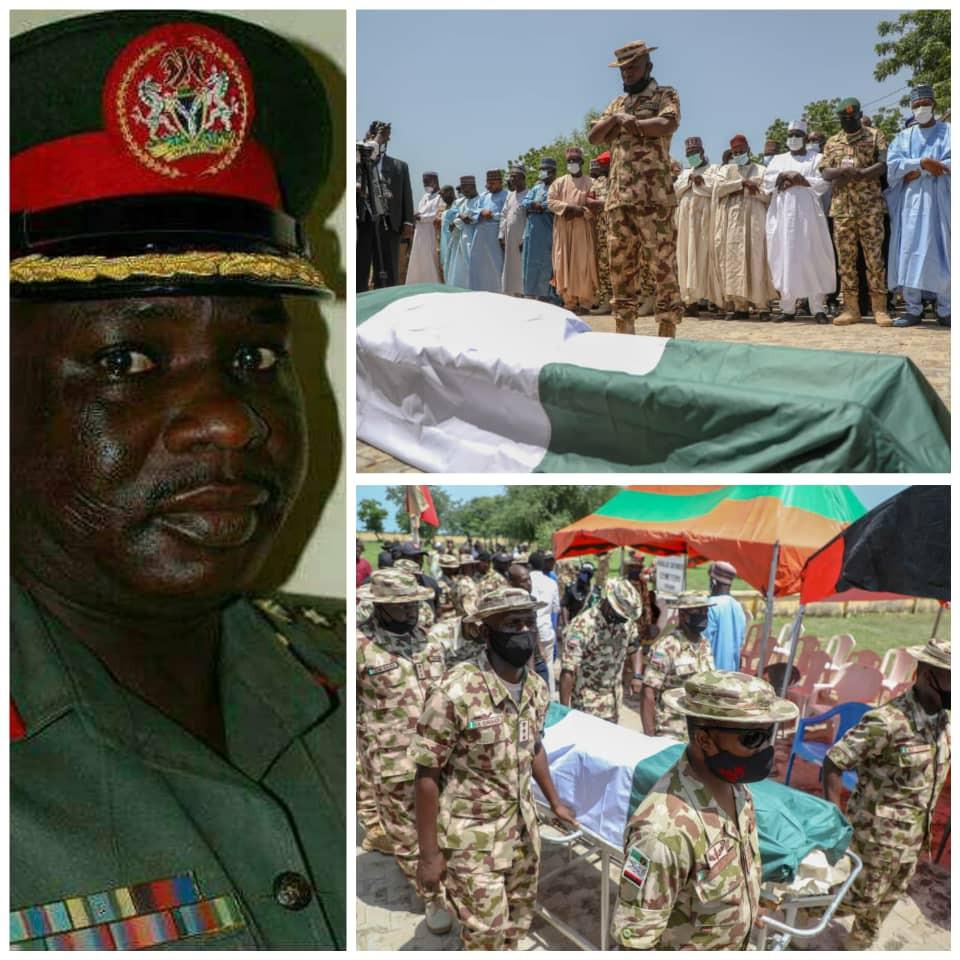 Army commander killed in Boko Haram ambush laid to rest. Borno gov gifts his widow N20m (photos) 4