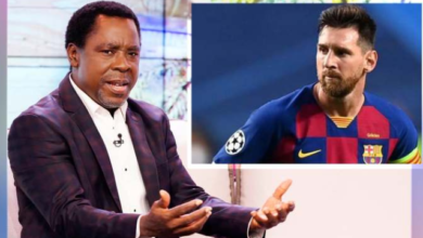 Photo of Don't leave Barcelona bitter and offended – T.B Joshua tells Lionel Messi