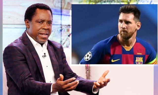 Don't leave Barcelona bitter and offended - T.B Joshua tells Lionel Messi 1