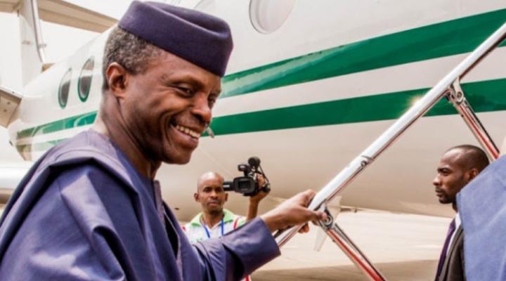 Vice President, Yemi Osinbajo leaves Nigeria for Ghana 1